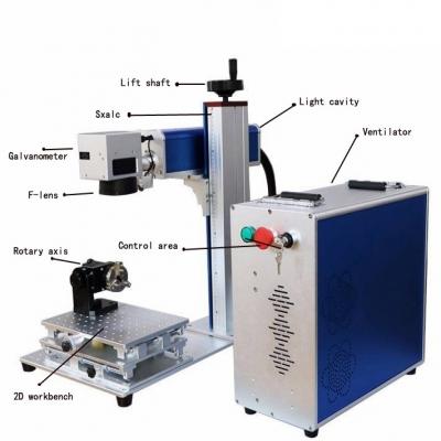 Portable 30W Desktop Fiber marking machine for metal and nonmetal